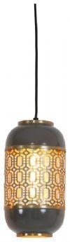 Light & Living Hanglamp 'Rohut' 17cm, donker warm grijs