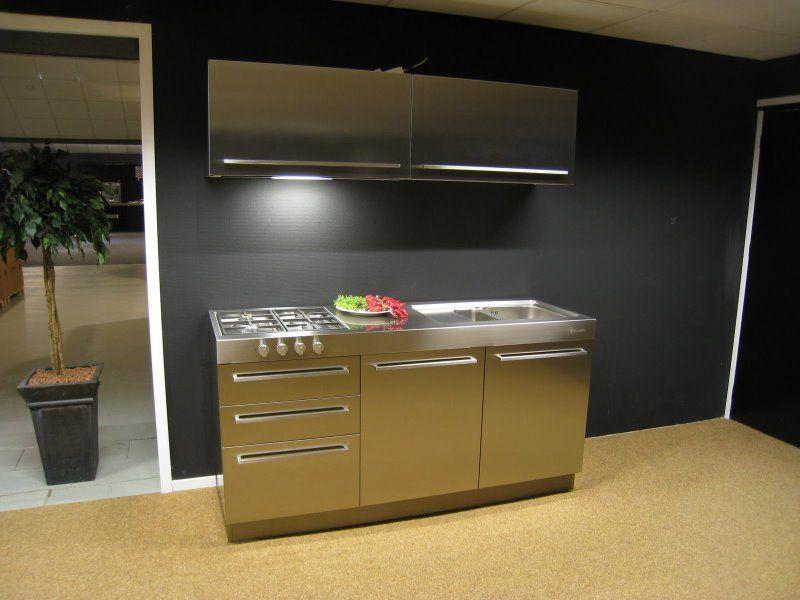Keuken Plint Rvs : woonwinkel van Nederland! Cesar RVS keuken 180 cm [35095