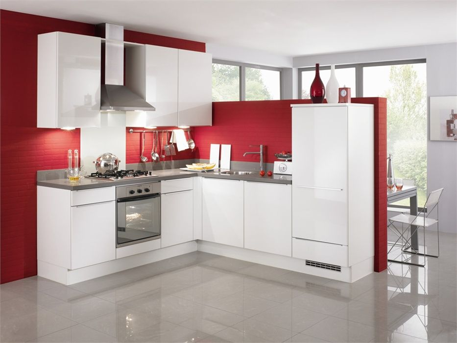 De voordeligste woonwinkel van nederland nobilia uno wit hoogglans 32257 - Model keuken wit gelakt ...