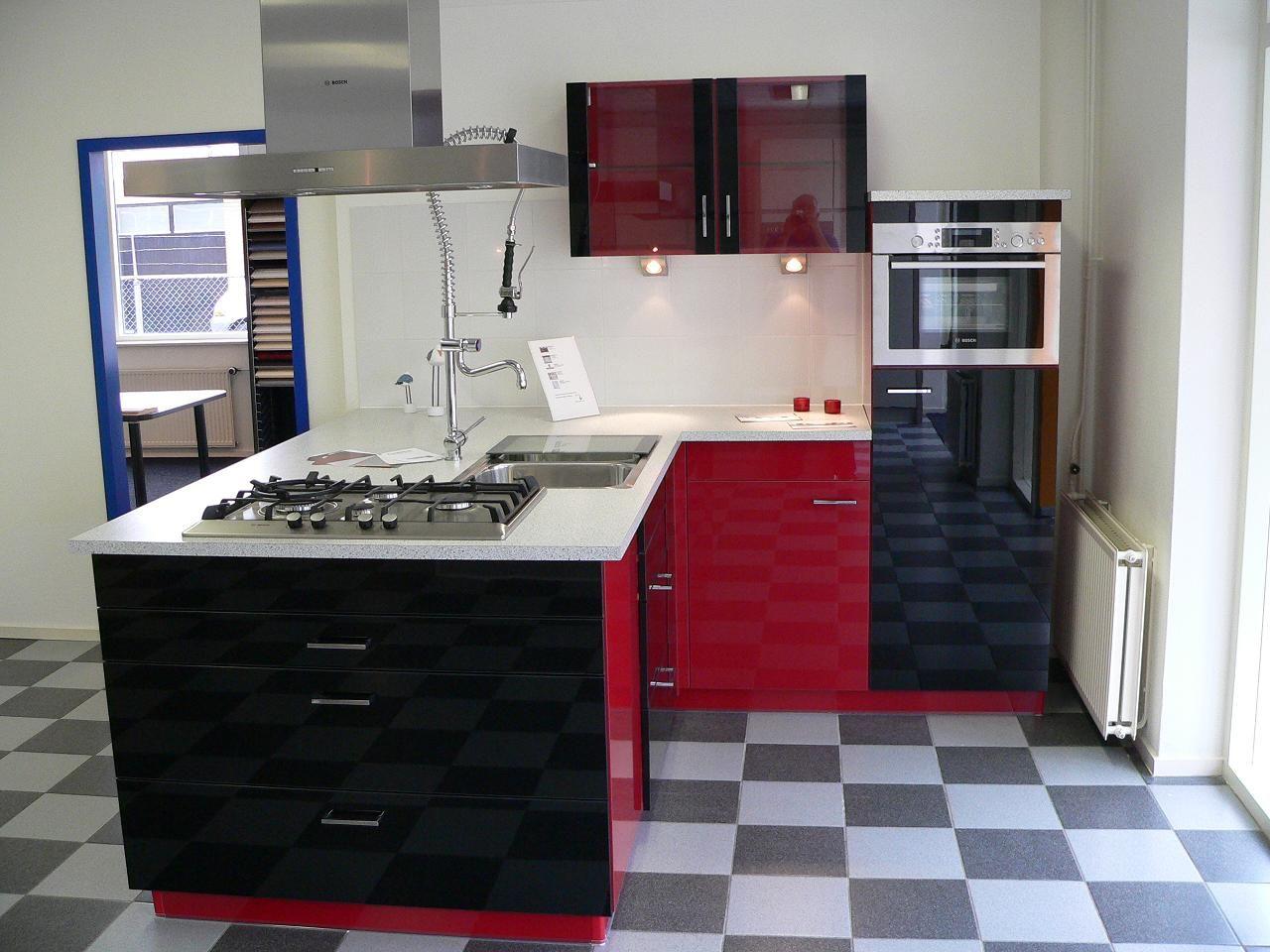 Rood Zwarte Keuken: Zuordnung stil design keukens planungsart open ...