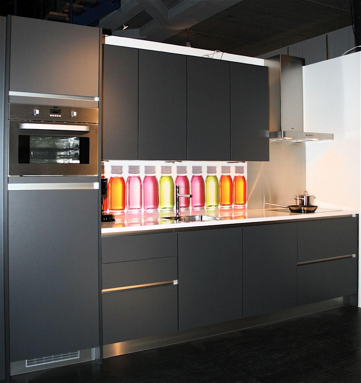 Keuken Antraciet Hoogglans : woonwinkel van Nederland! Greeploze keuken basalt (15) [40695