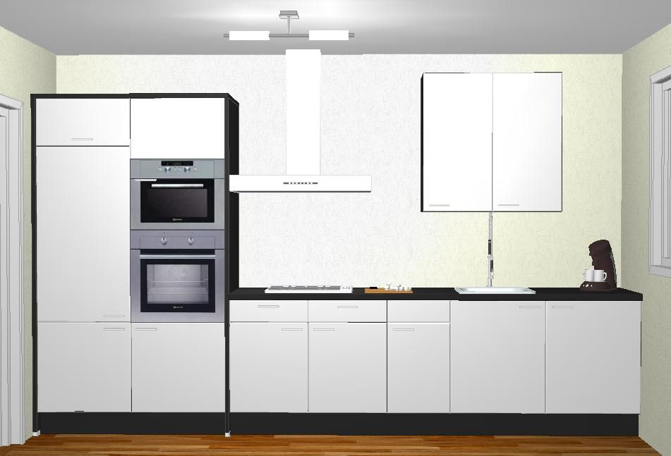 Keuken Wit Zwart : wit zwart in u vormige 36322 showroom keuken model forma wit zwart in