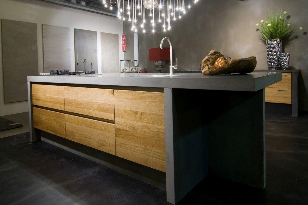 Keuken Hout Beton : De voordeligste woonwinkel van Nederland! Betonnen keuken [42732