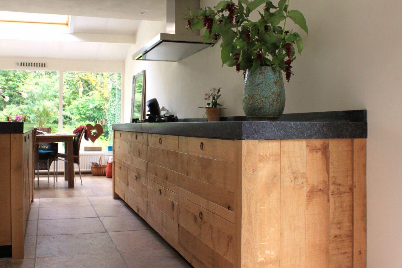 Natuursteen Keuken Werkblad : De voordeligste woonwinkel van Nederland! Ruw eiken keuken [42733