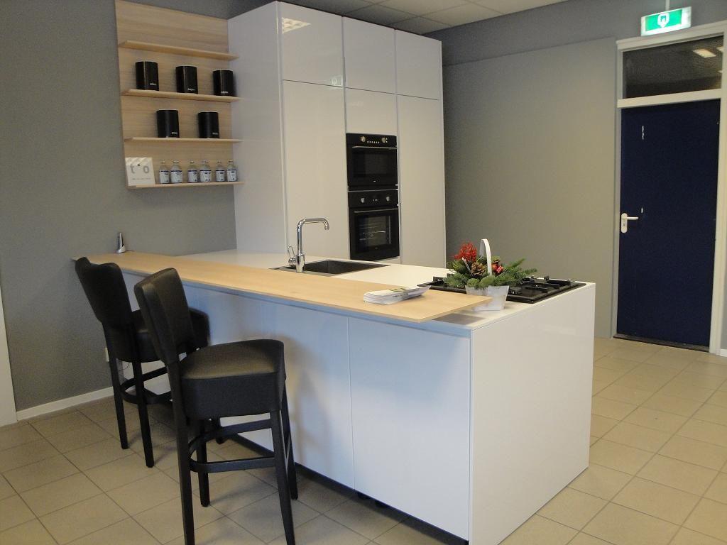 ... woonwinkel van Nederland!  Hoogglans wit greeploze keuken [41846