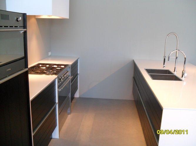 Zwarte Keuken Zwart Blad : keuken zwart blad hoogglans keuken met 2 cm composiet werkblad