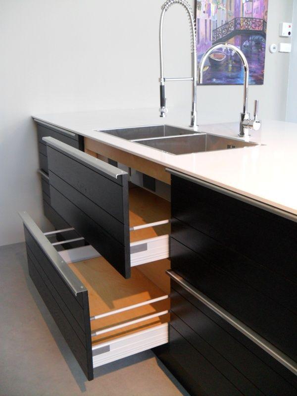 Zwarte Keuken Zwart Blad : voordeligste woonwinkel van Nederland! Eiken zwarte keuken [42737