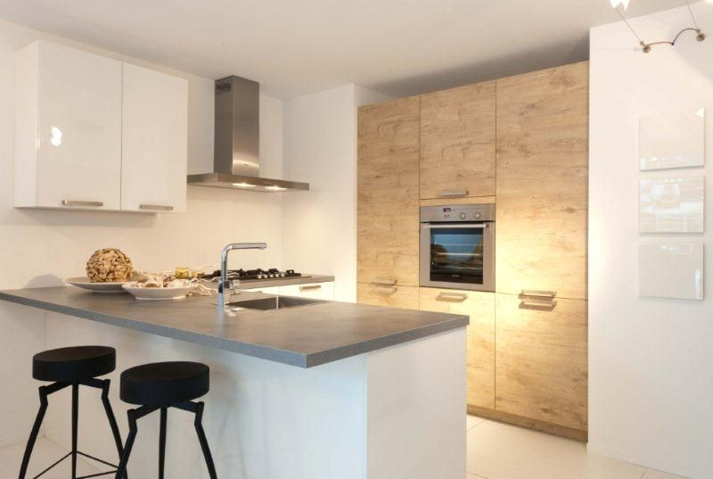 Moderne keuken met schiereiland ~ consenza for .