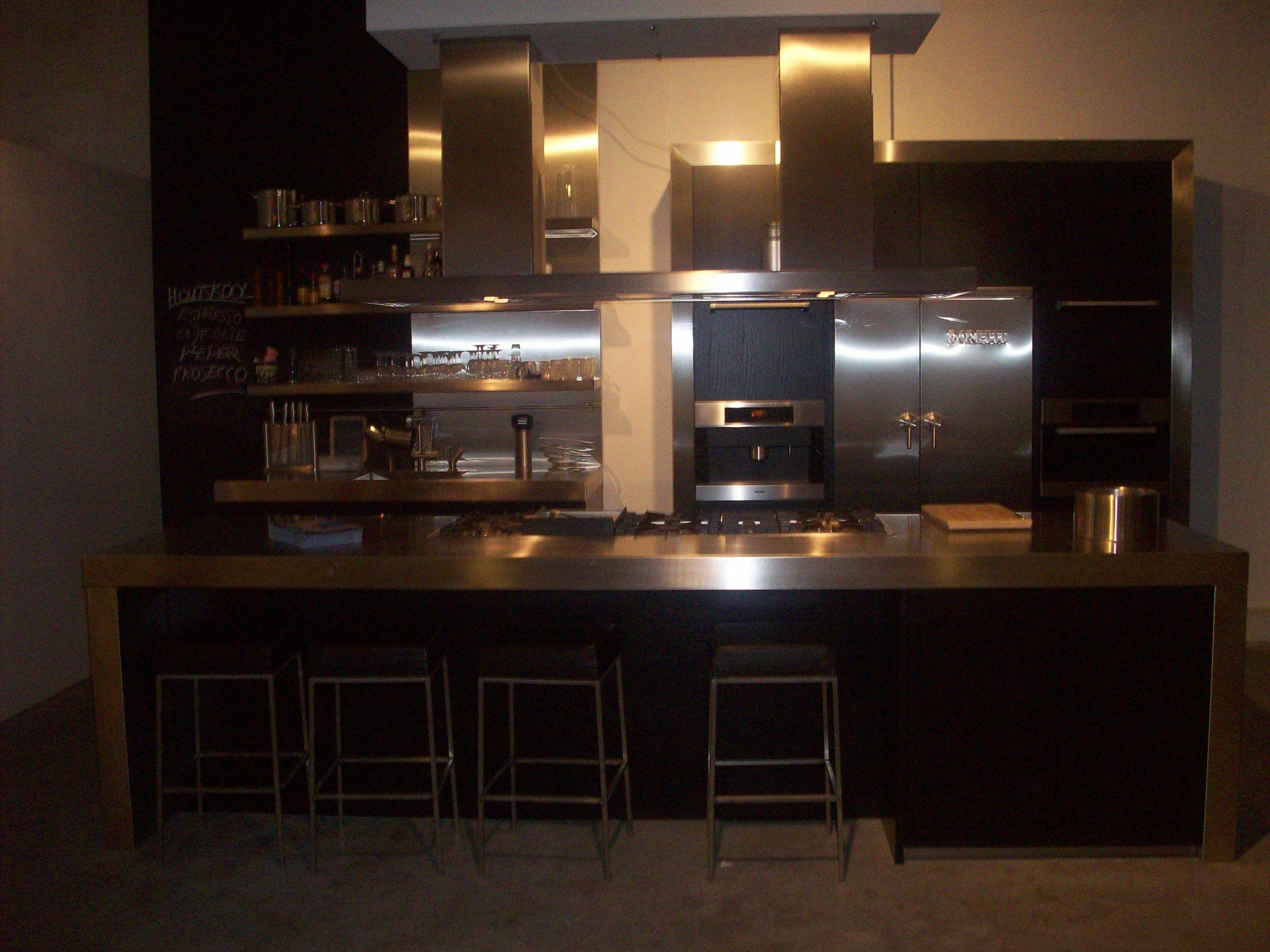 zwart eiken 38820 eiland keuken zwart eiken met boretti 150 cm fornuis ...
