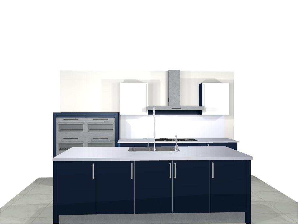 Keuken Quooker Kosten : schitterende blauwe lak keuken 45348 deze keuken kan eventueel ook als