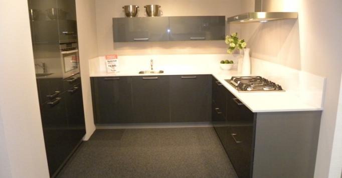 Antraciet Keuken : woonwinkel van Nederland! Moderne antraciet hoogglans keuken [45591