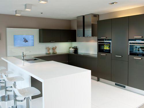 Kleine keuken u vorm: kleine keuken l vorm keukens moderne met ...