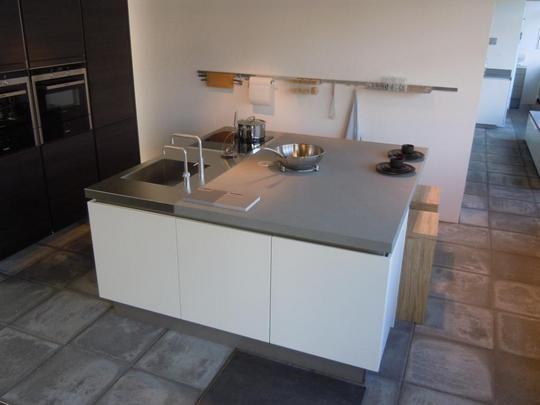 Keuken Wit Mat : woonwinkel van Nederland! Eiland keuken mat-lak/eiken-terra [37733