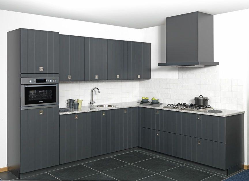 Keuken Zwart Werkblad : landelijke keuken in grafiet zwart 45614 een modern landelijk keuken