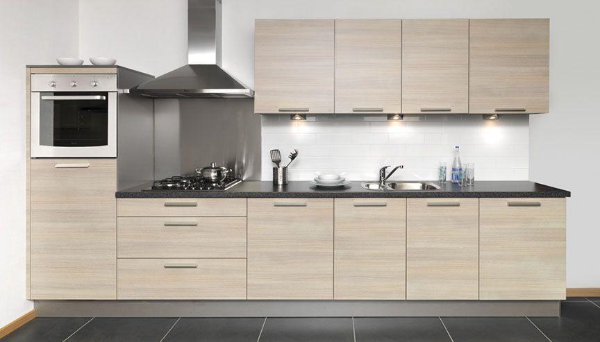 Keuken Grijs Eiken : in eiken grijs 45668 een rechte opstelling in de kleur eiken grijs