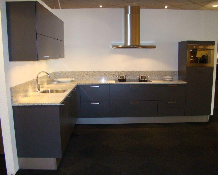 Antraciet Keuken : pronorm hoekkeuken in antraciet 45447 kleur antraciet verkocht