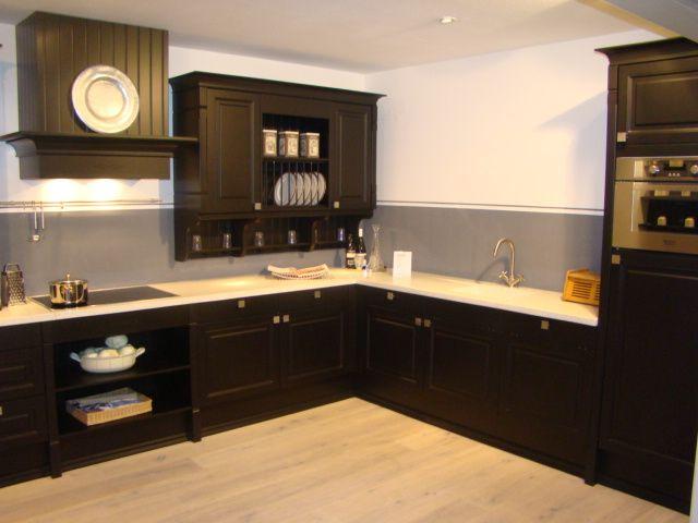 Keuken Zwart Mat : woonwinkel van Nederland! hoekkeuken klassiek, zwart mat lak [45534