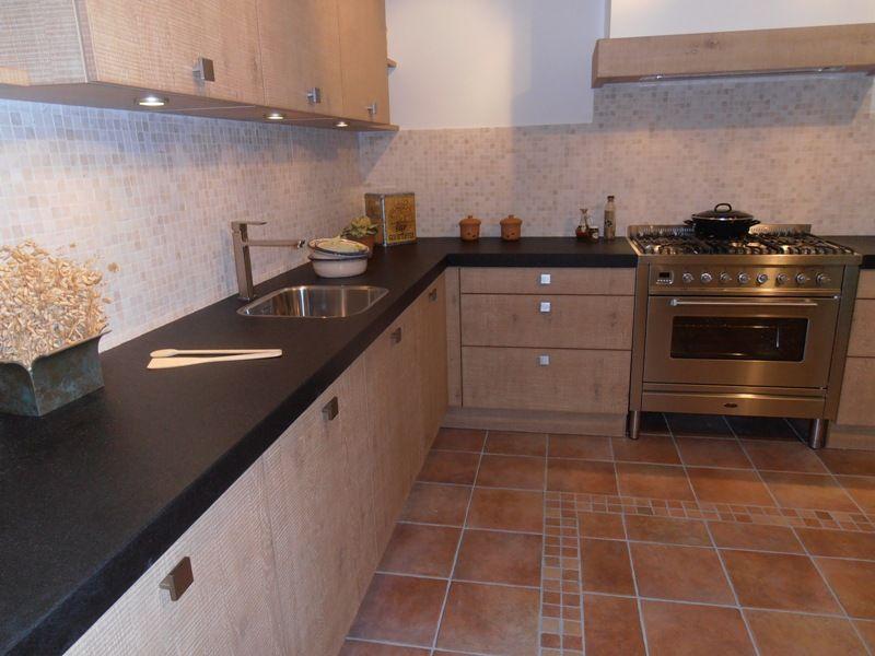 Keuken Fineer Eik : fineer keuken met boretti fornuis 45551 kleur eiken cornwall fineer