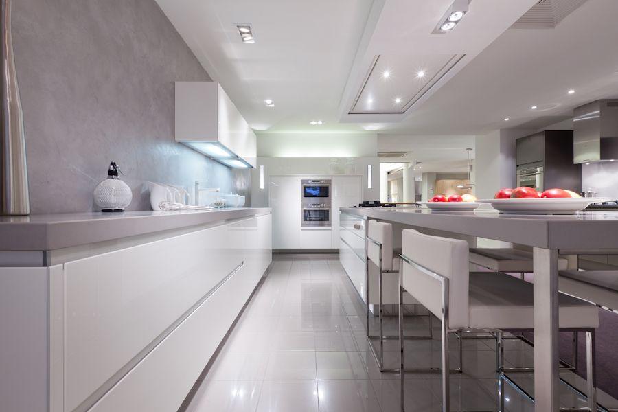 Keuken Lichtgrijs : Witte Keuken Hoogglans