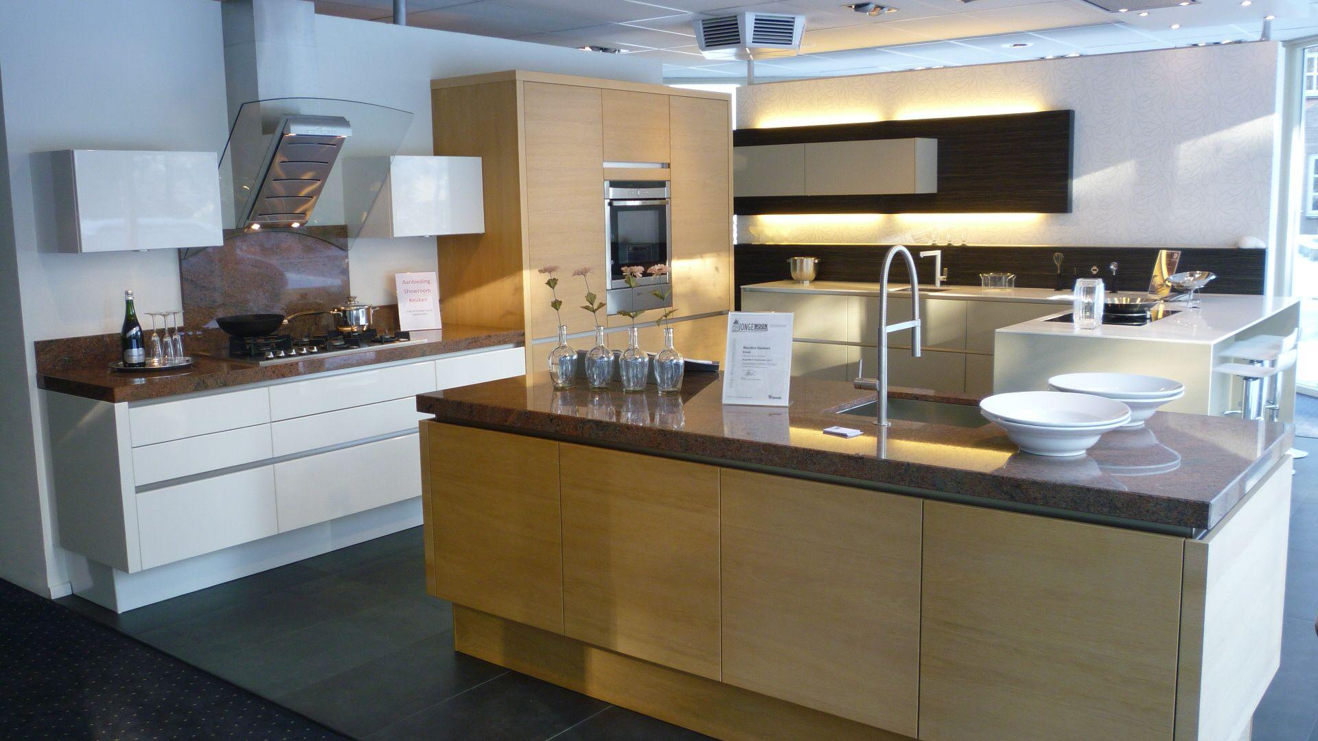 Keuken Eiken Fineer : woonwinkel van Nederland! Hoogglans wit lak met eiken fineer [49331