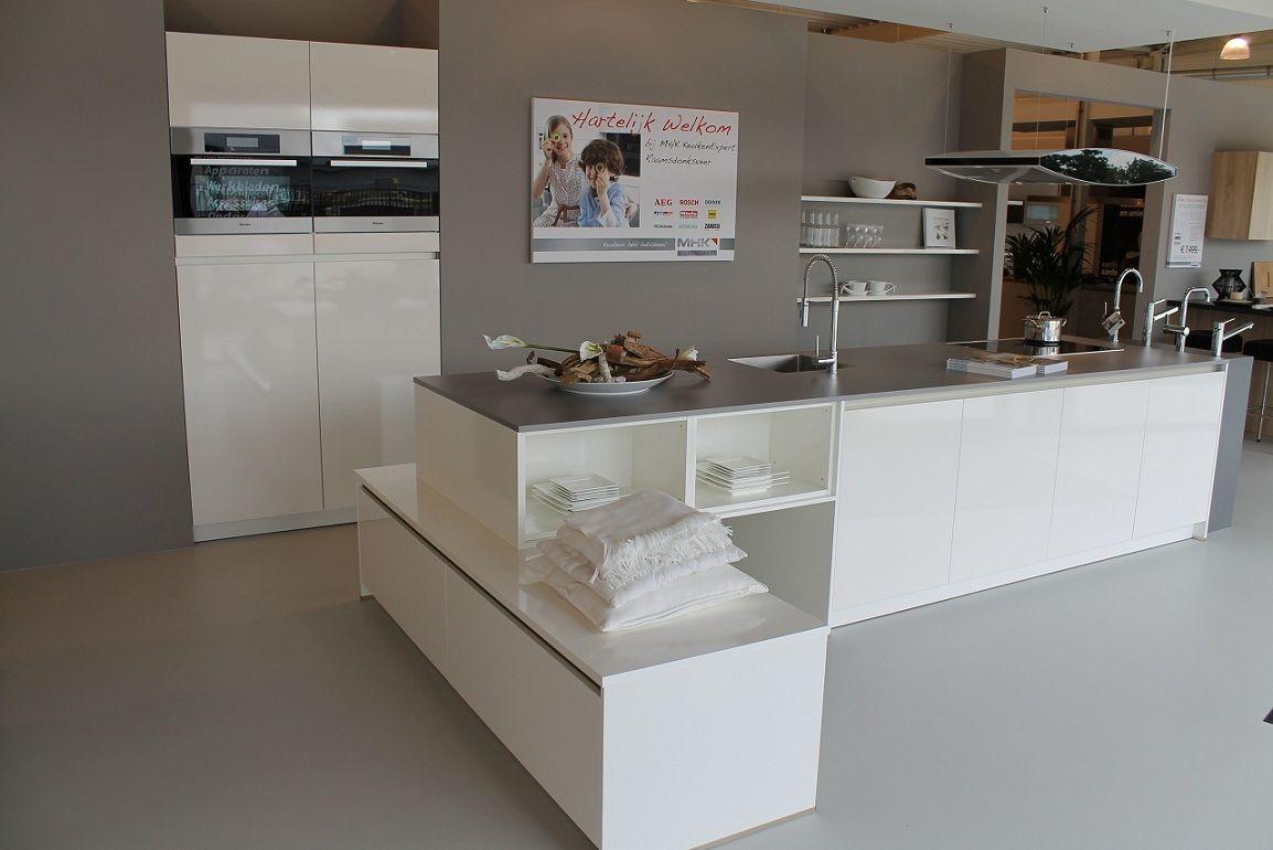 Greeploze Keuken Vaatwasser : Nederland! Elementa greeploze keuken Nova Gloss briljantwit [43108