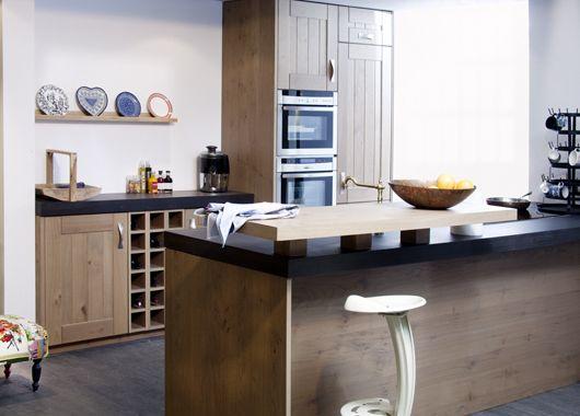 Keuken Eiken Werkblad : beda keuken 37911 beda keuken front eiken rustiek betonnen werkblad