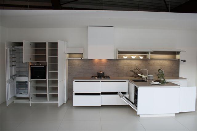 Keuken Wit Mat : woonwinkel van Nederland! T – keuken greeploos mat wit (9.3) [48764