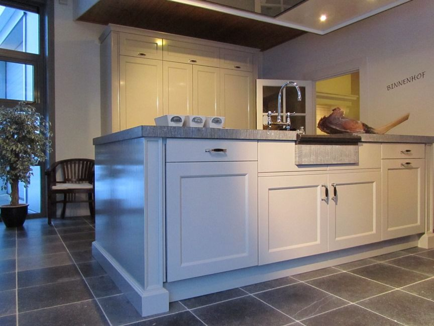 ... Keuken Landelijk : Keuken landelijk grijs massief houten landelijke