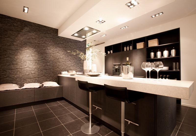 De voordeligste woonwinkel van nederland luxe eiland keuken met - Lounge warme kleur ...