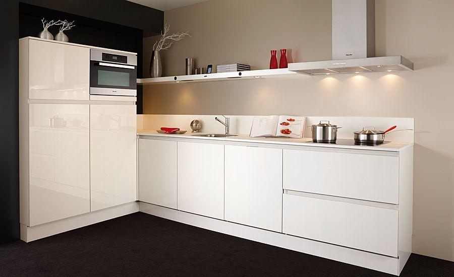 De voordeligste woonwinkel van nederland keller greeploos hoogglans wit - Model keuken wit gelakt ...