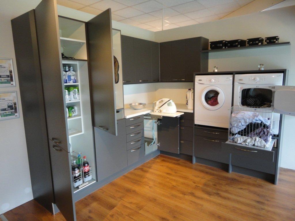 Showroomkorting nl   De voordeligste woonwinkel van Nederland!   Bijkeuken grafiet grijs met wit