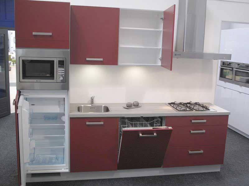 De voordeligste woonwinkel van nederland rechte rode keuken 54927 - Aardewerk rode keuken ...