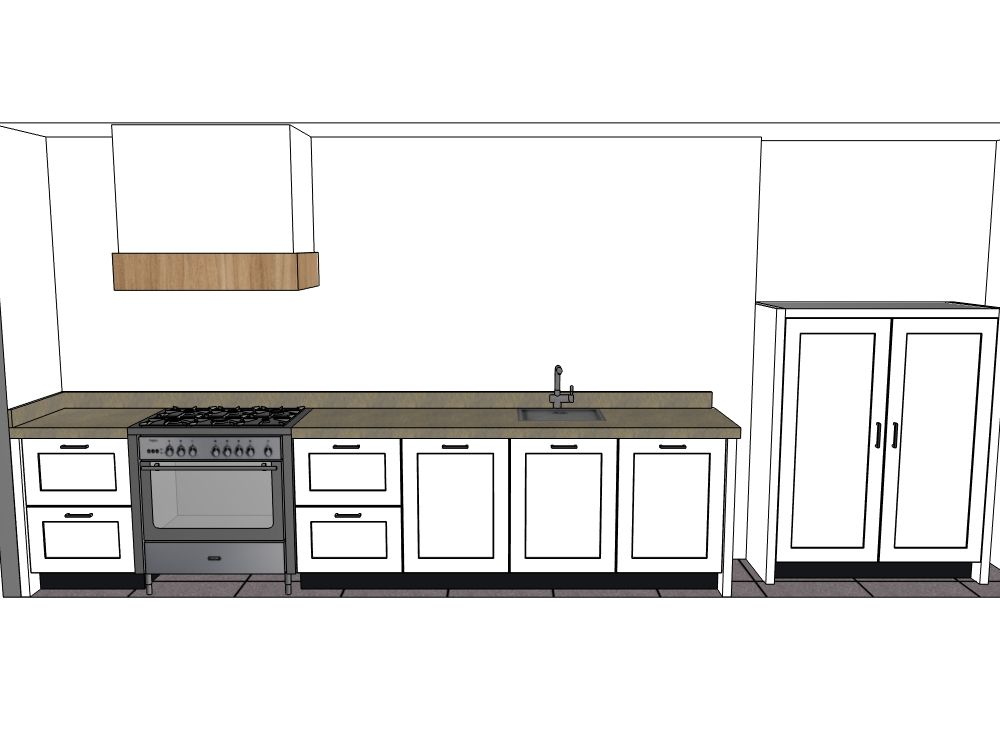 De voordeligste woonwinkel van nederland moderne rechte keuken met - Afbeelding van moderne keuken ...